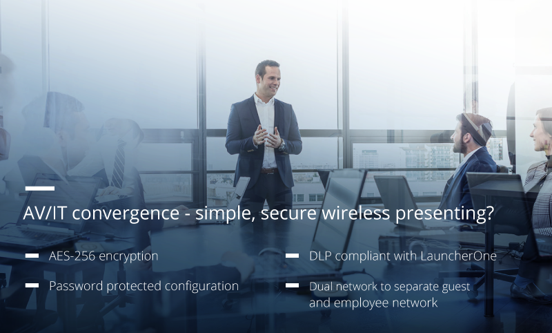 AV/IT convergence – simple, secure wireless presenting