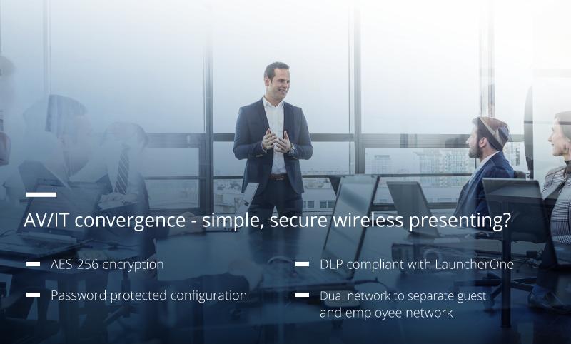AV/IT convergence – simple, secure wireless presenting